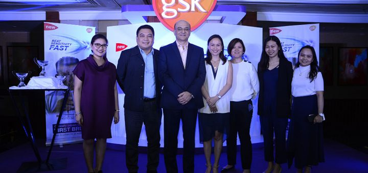 Sensodyne launches it latest variant Rapid Relief, which is clinically proven to provide relief from sensitivity from the first brush. (From left to right) GlaxoSmithKline Consumer Health Care Detailer Manager Robelle Venzon, Expert Sales Manager Michael Mallari, General Manager Ritesh Pandey, Oral Health Category Lead Leanne Jacinto, Sales Director Dhanica Tiu, ,Trade Marketing Head Katrina Mangubat, Trade Marketing Manager Katherine Sayon