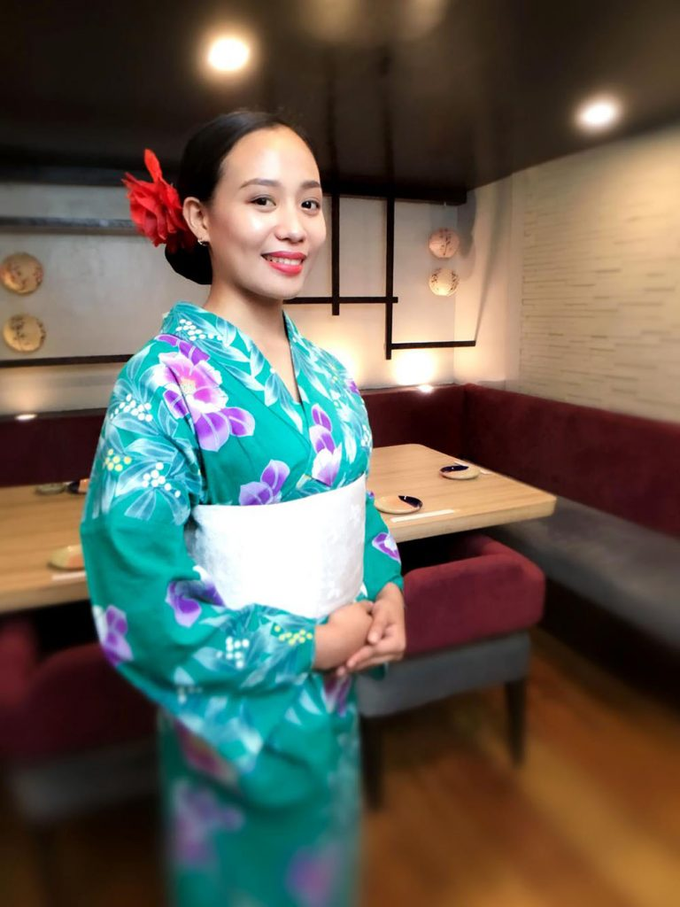 The yukata, or summer kimono, is worn in the sunny months and is woven with lighter fabrics.
