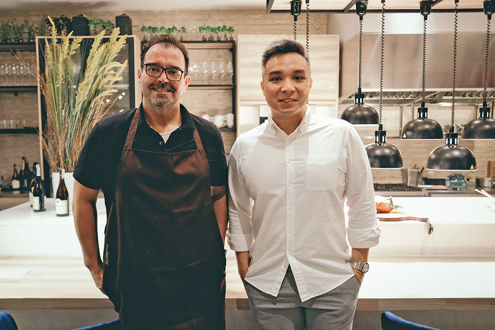 Pinot General Manager and Head of Culinary Functions Chef Markus Gfeller and Managing Director for Pinot Scott Tan