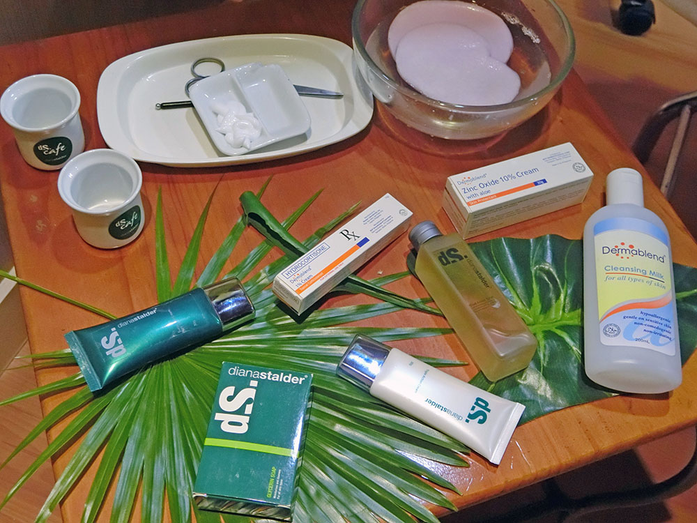Diana Stalder products to be used during the healing period after warts removal