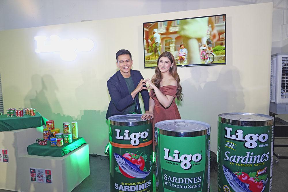 Ligo officially reveals its new brand endorser Carla Abellana (left) who perfectly matches Tom Rodriguez.