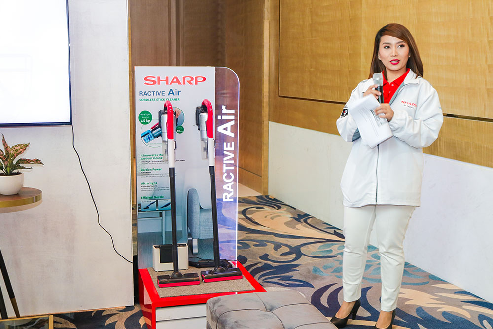 Product Specialist for Whitegoods Products, Ms. May Ann Malimban presenting the Ractiv Air under the Clean & Comfort Solution copy