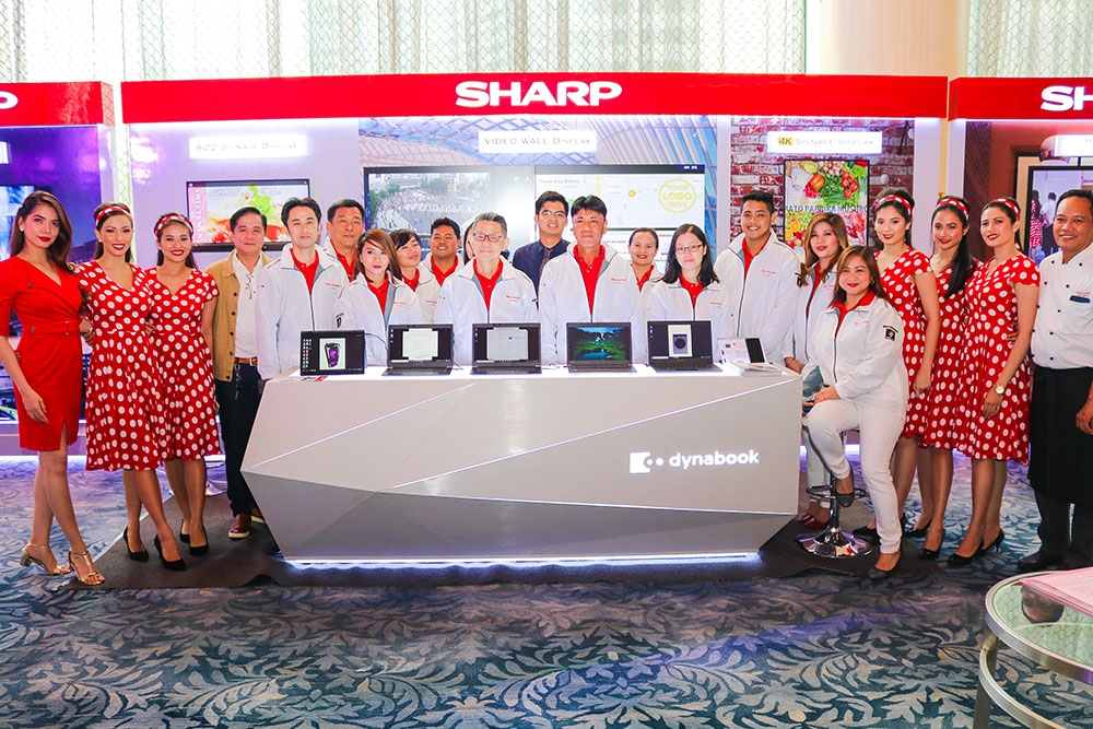 Sharp Corporation and Sharp Philippines executives with event models copy