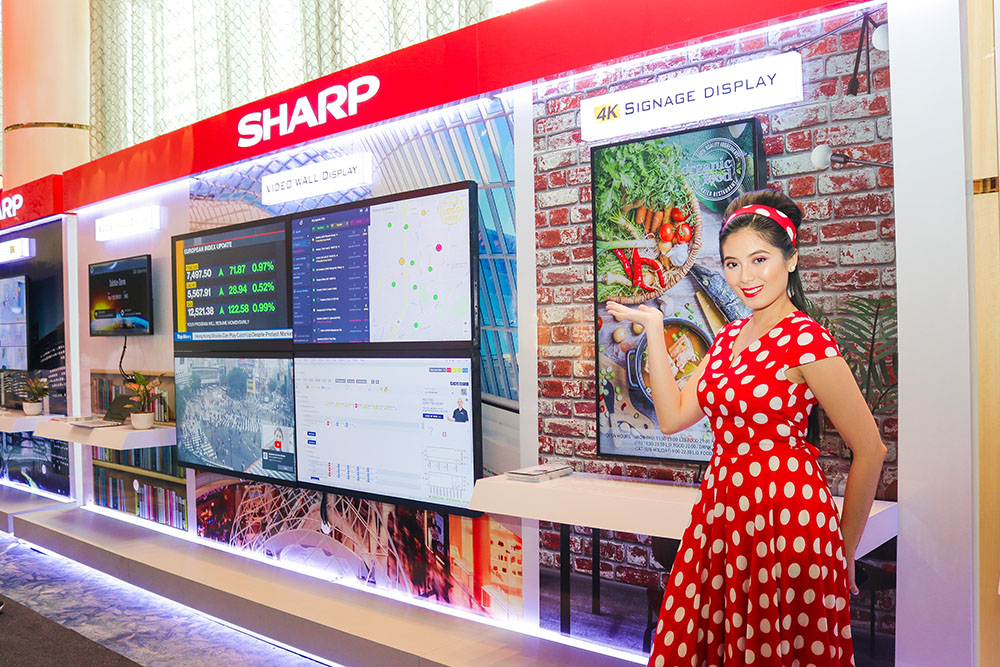 Sharp launched their new set of B2B AQUOS TV which remains a perfect part for signage in retail and and producT AVPs in the office copy