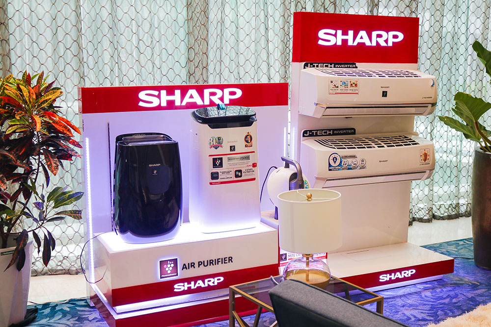 Sharp showcased their Plasmacluster Ion Technology which purifies the air with positive and negative ions, deactivates airborne mould, viruses, dust mite allergens and bacteria copy