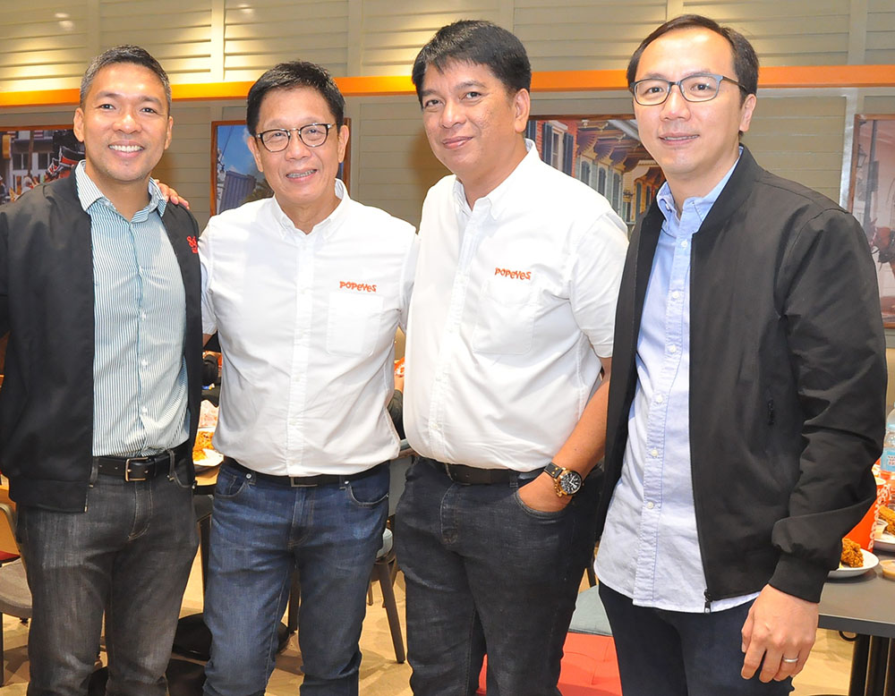 8990 Holdings general counsel Ian Dato, Kuya J Group president Winglip Chang, COO Gretz Rivera, and chairman Lowell Yu