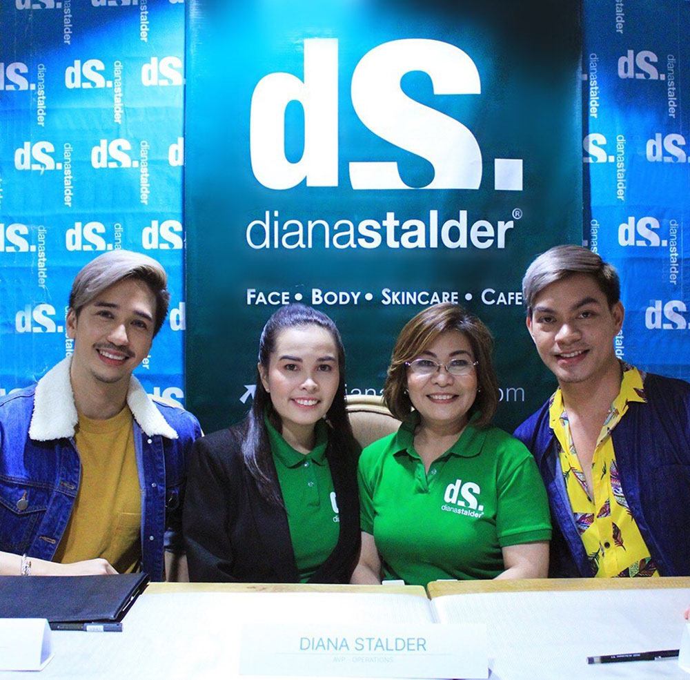 L-R: Joe Abad, Diana Stalder, Dina Dela Paz-Stalder, and Chuck Aquino at Diana's Stalder contract signing in Basement 2 Gateway Mall branch.