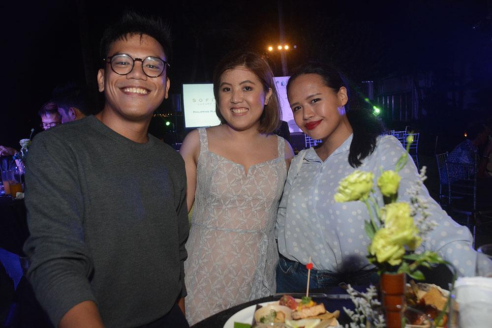 Lifestyle Asia's Izzy Suarez, Sofitel Philippine Plaza Manila's PR Manager Margot Calimon, and Metro Society's Justin Convento