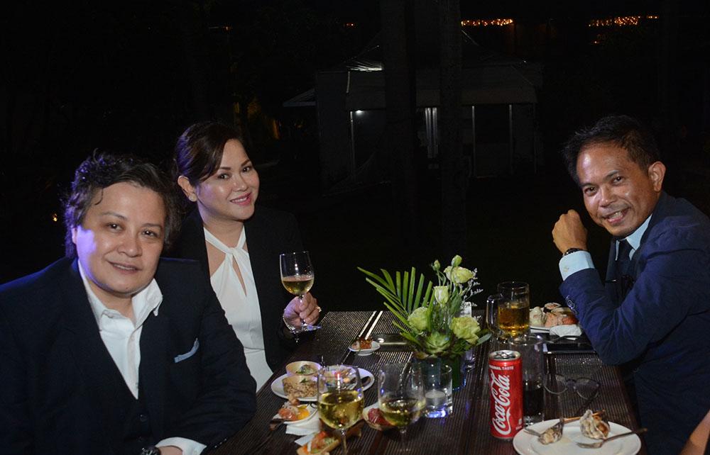 US Embassy's Ramona Singian, Pauli Porquez, and French Embaddy's Martin Macalintal