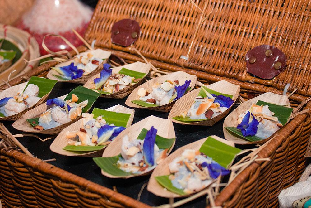 Raffles and Fairmont Makati's Mahi-Mahi Kilawin with Coconut and Pili Nuts