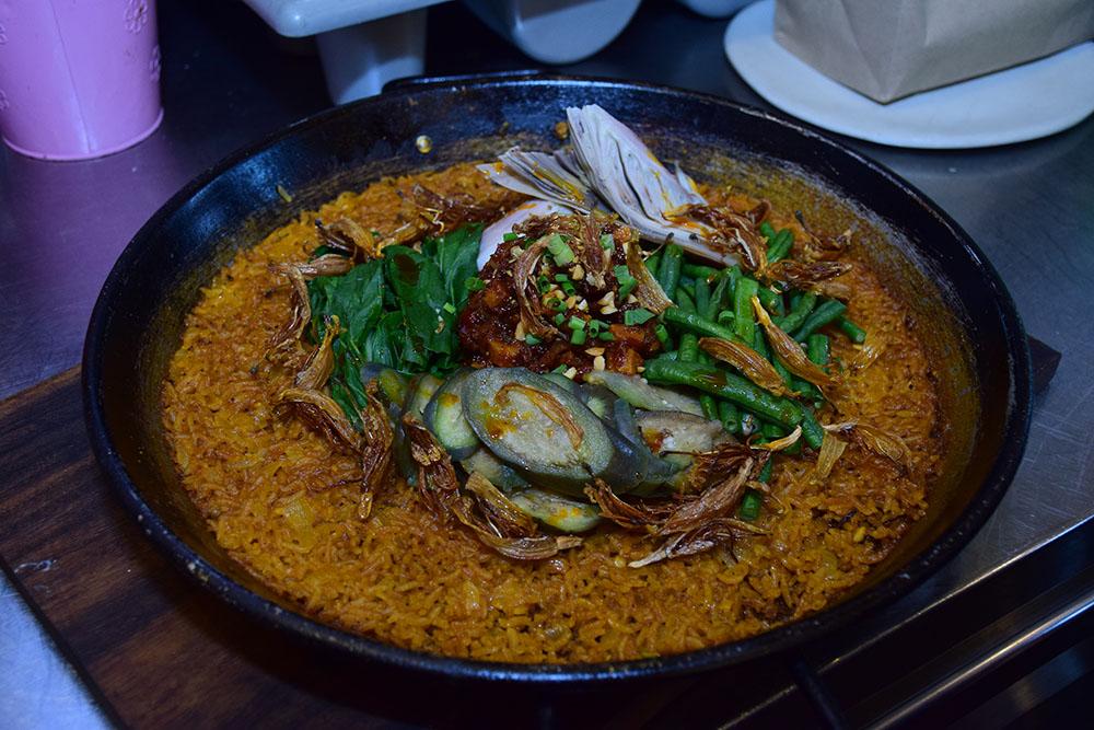 P100 for 5 Dish by Chef Robby Goco, Kare-Kare Rice with Binagoongang Tokwa