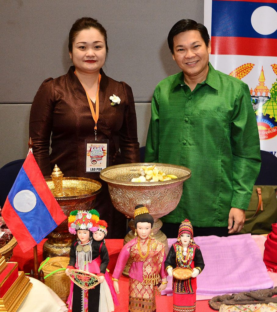 Lao Embassy Deputy Chief of Mission Souksanith Vongphankham and Charge d' Affaires Khamhoun Pradith