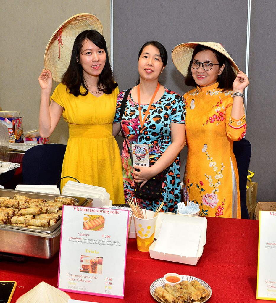 Vietnam Embassy highlights their Vietnamese spring rolls made of pork meat, mushroom, and other seasonings and spices.