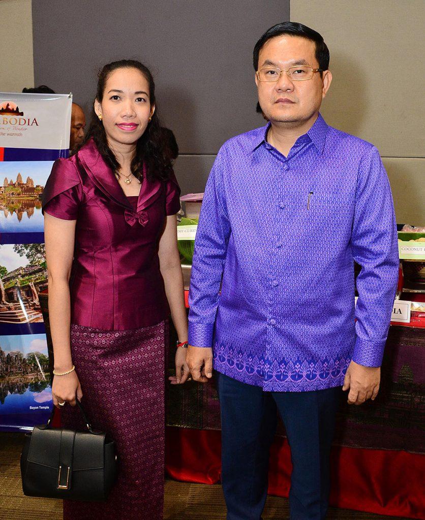H.E. Cambodian Ambassador Leng Chan Virak (left) and Second Secretary Hul Thonnak