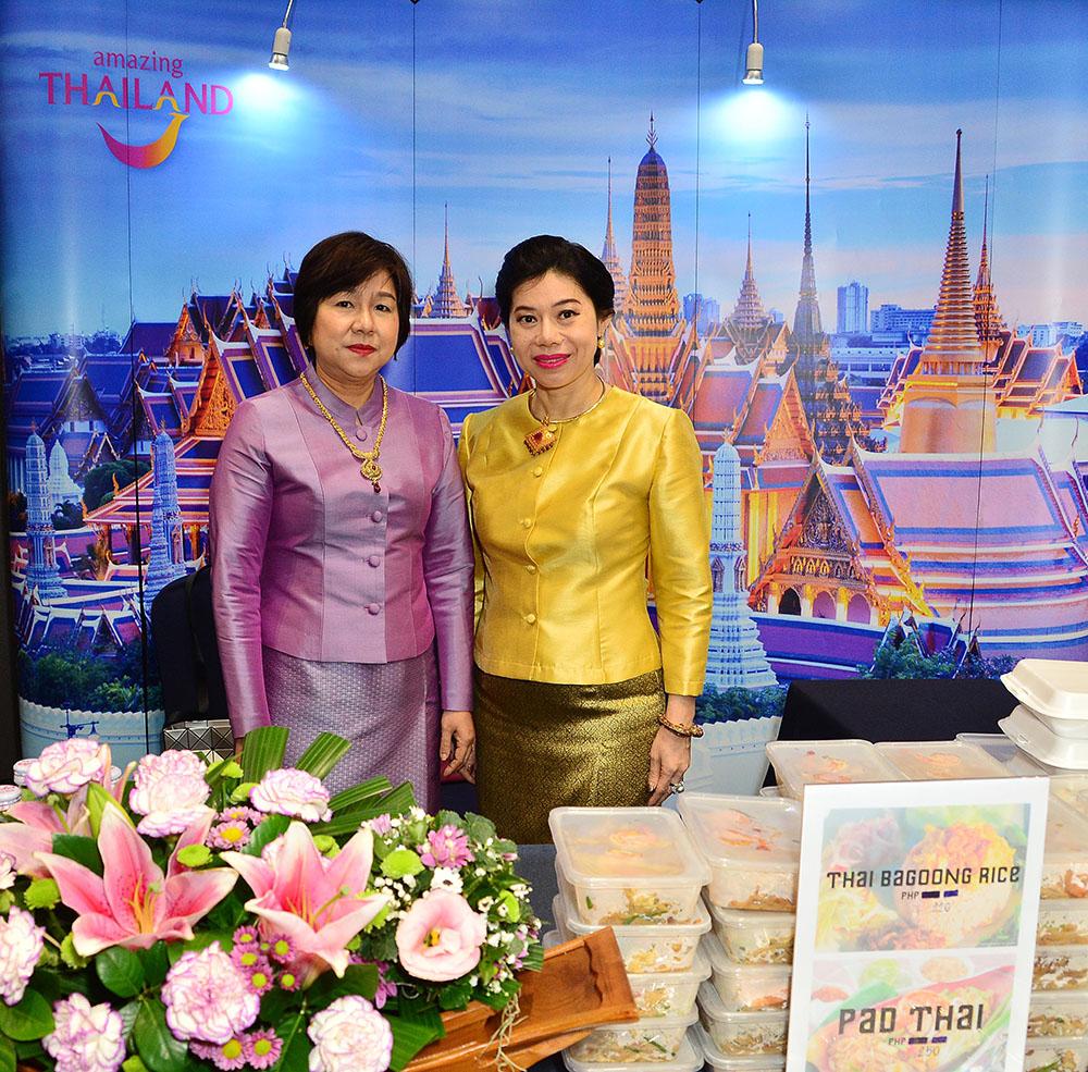 Madame Sirintra Ruangprateepsaeng, wife of H.E. Thailand Ambassador Vasin Ruangprateepsaeng and Rungnapa Intraviseth