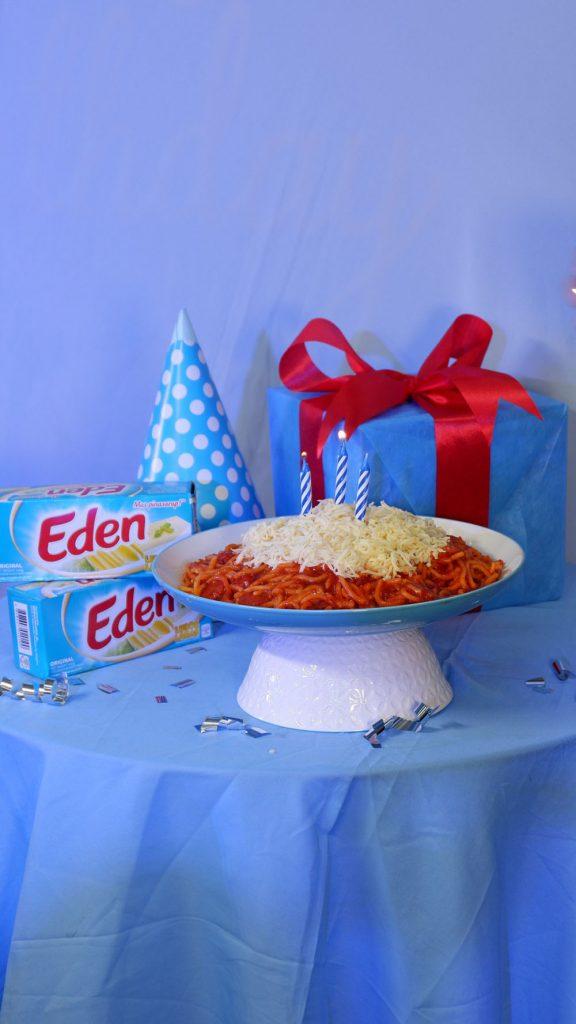 Eden Birthday Spaghetti