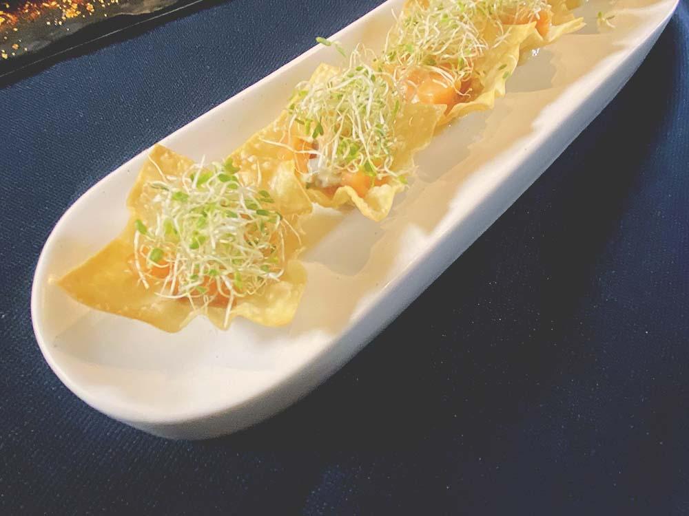 Pintxos Salmon con Huevo-Mayonesa