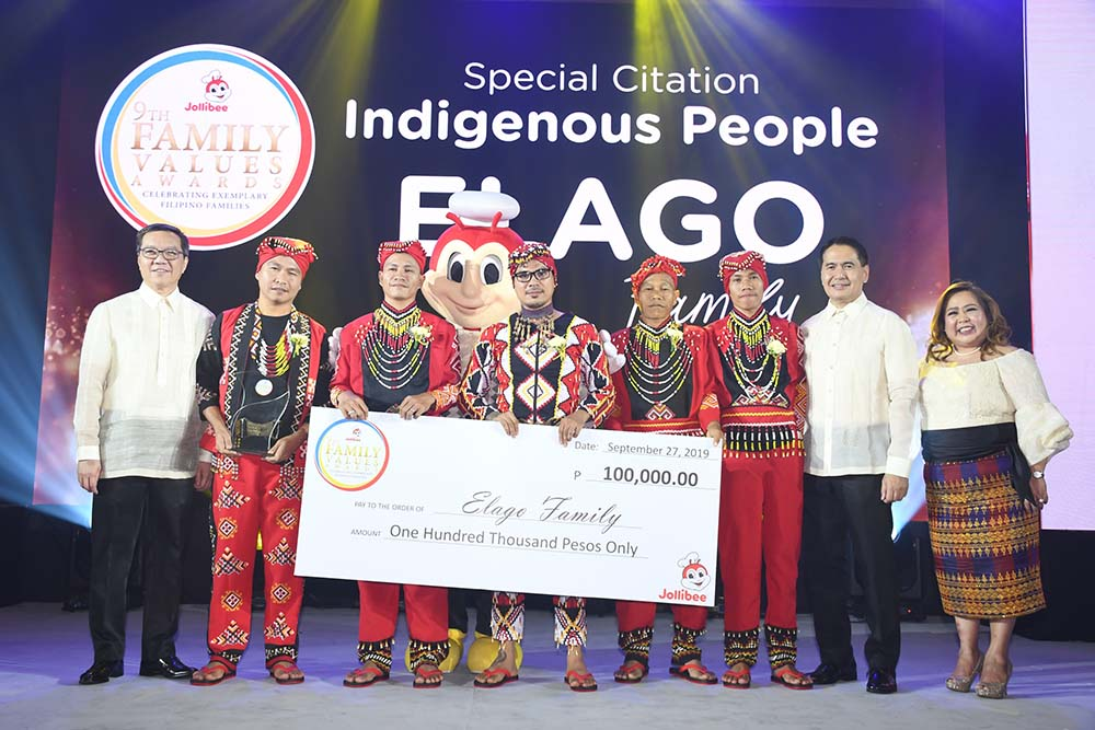 A Special Citation for Indigenous People awardee, the Elago Family of Agusan del Norte has touched lives for helping college students fund their education with Project Scholar.