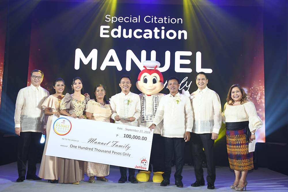 The Manuel Family of Cagayan Province wins a Special Citation for Education for their tireless efforts to provide literacy and tutorial programs for kids from the Aeta community.