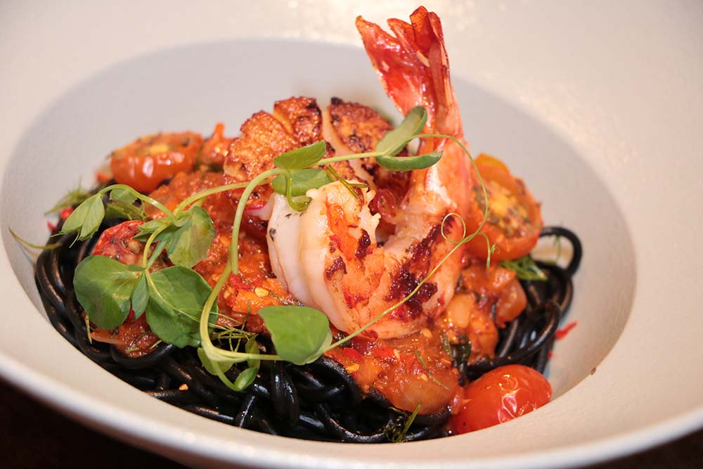 Squid Ink Pasta Coconut Prawn and Scallop copy