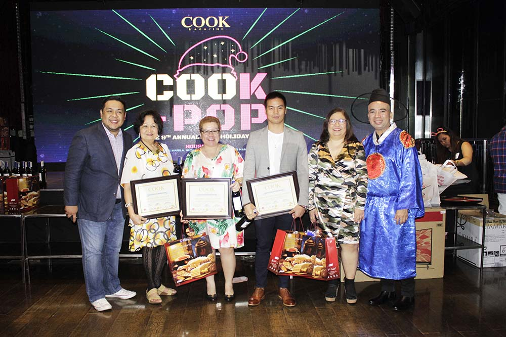 Cook Magazine Columnists (2nd from left) Editha, Singian, Chefs Jojo Cuesta-Javier, and Edward Mateo with Cook Editor in Chief Dino Datu, Managing Editor Magnolia Silvestre, and Advertising Sales Marlon Aldenese