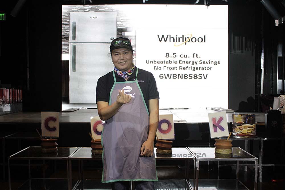 The grand prize winner of Whirlpool 2-Door refrigerator.