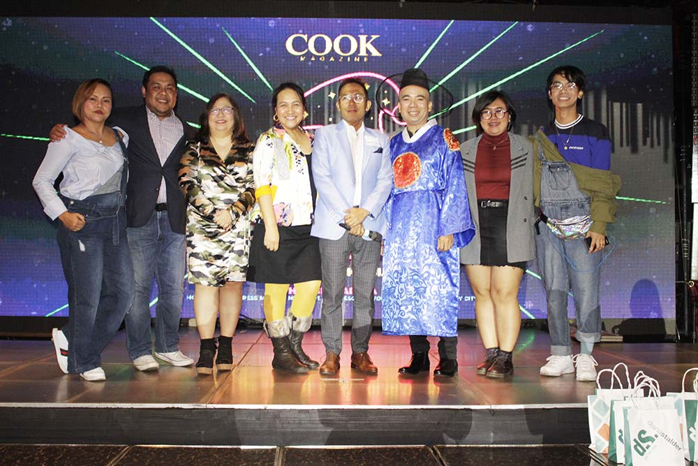 The Cook Magazine Team; from left: Account Manager Maribel Avelis, Editor in Chief Dino Datu, Managing Editor Magnolia Silvestre, Account Manager Leah Bonotan, Publisher T. Anthony Cabangon Chua, Advertising Sales Manager Marlon Aldenese, Graphic Artist Shaira Barnuevo, and Account Manager Michael Pituc
