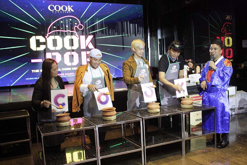 The four grand prize winners which they don't know yet what they are about to win inside the clay pot of every letter of COOK.
