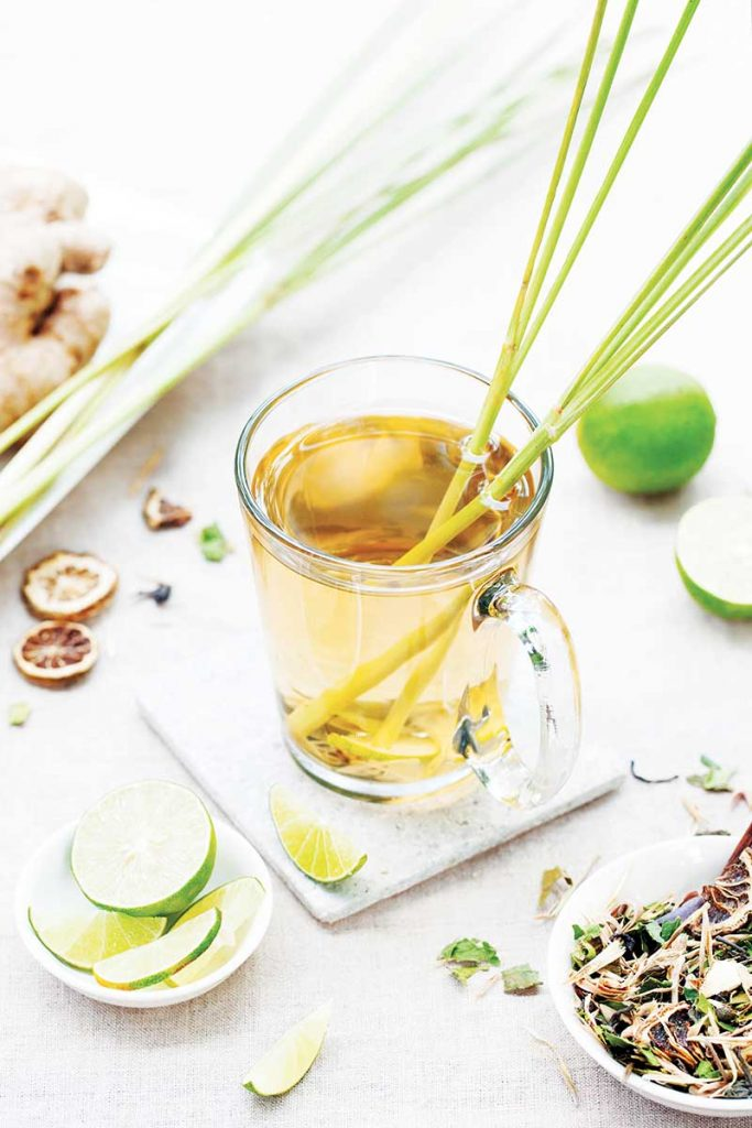 You can brew your own lemongrass tea and punch up the flavor, not to mention the health benefits, by adding ginger and lime