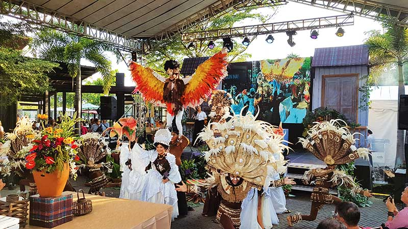 A performance from Iloilo's Dinagyan Festival enlivened the event
