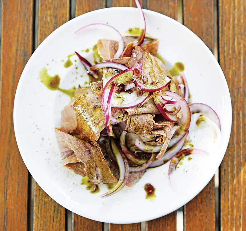 Beef Tongue, Onions & Pumpkin Seed Oil copy
