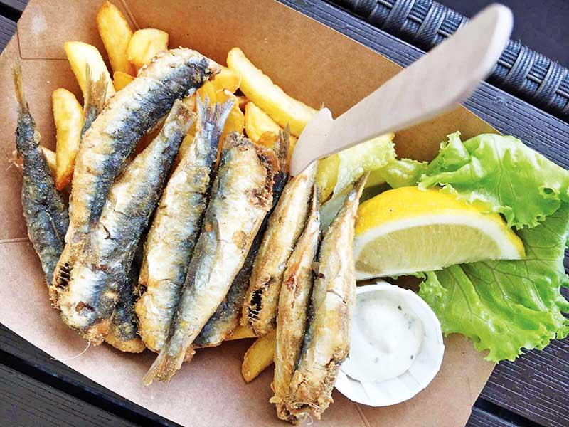 Fresh Fried Sardines, Ljubljana Market copy