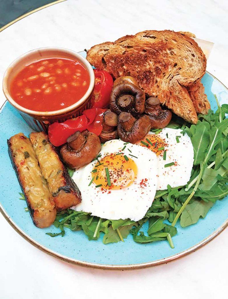 Glamorgan Sausages (Vegetarian Breakfast), Coffee Barker copy