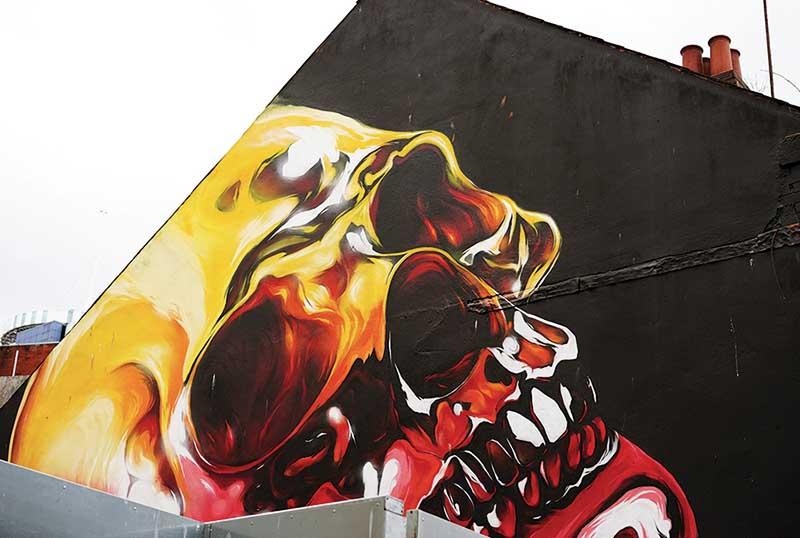 Graffiti, Cardiff City Centre