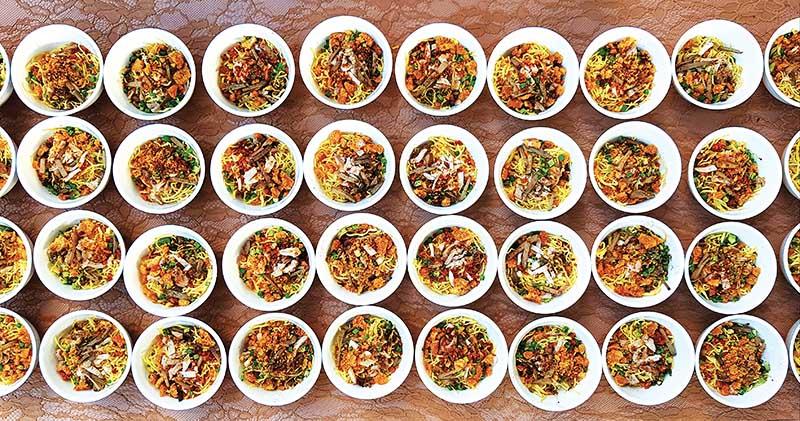 Little bowls of Netong's La Paz batchoy