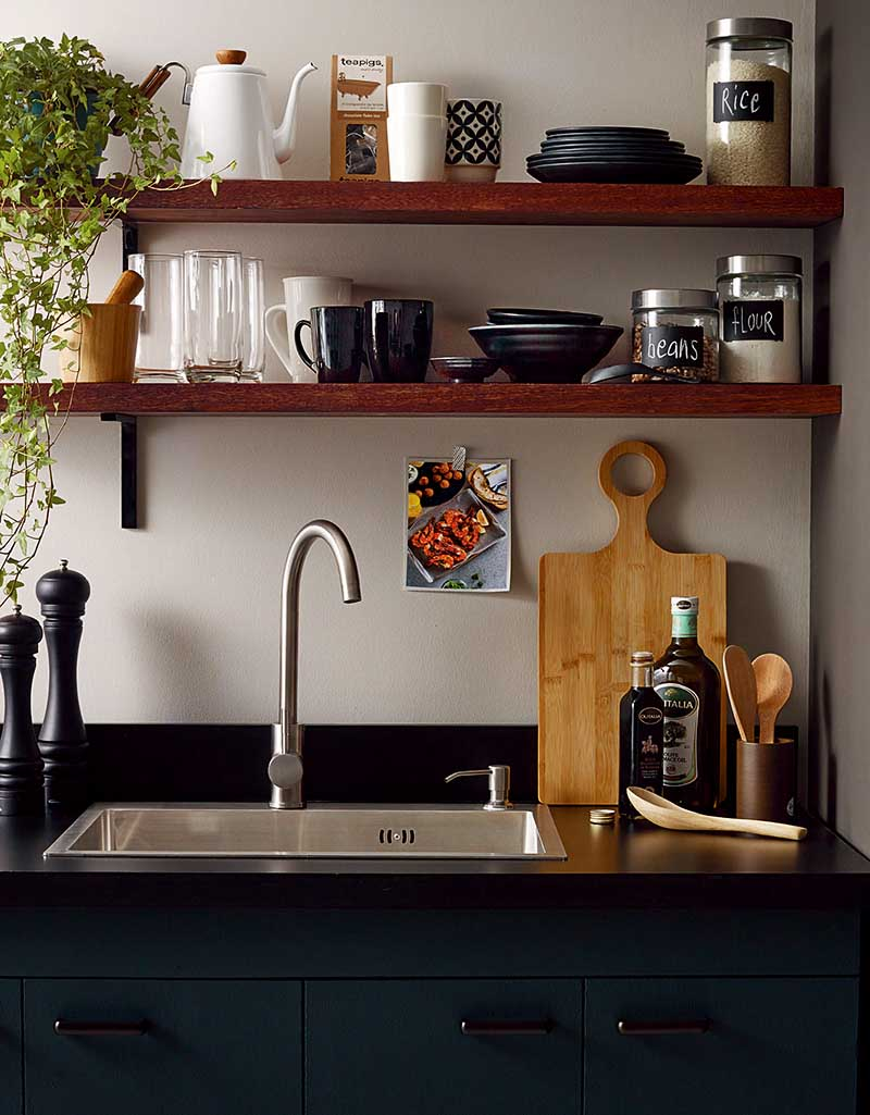Make your kitchen workspace clutter-free and maximize the area by putting commonly-used utensils within your reach.