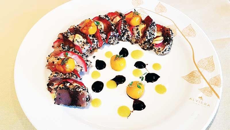Sesame crusted seared tuna loin