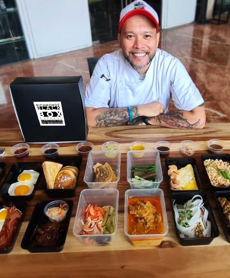 Chef Vic Barangan and Richmonde's Black Box Express