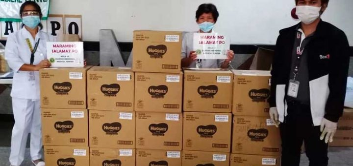 Proud parenting partner Huggies Philippines has committed to donating a total of 200,000 diapers in the coming months, committed to easing the burden that their hospital partners have faced in securing supplies for its patients. (In photo: Recipients from Quirino Memorial Medical Center