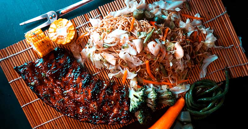 Slow-Braised BBQ Pork Ribs with Pancit Canton copy